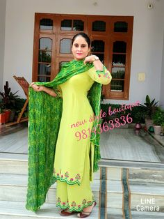 Embroidery Suits Punjabi, Embroidery Suits Design, Embroidery Fashion, Neck Designs For Suits, Dress Neck Designs, Designs For Dresses, Punjabi Suits Designer Boutique, Indian Designer Suits, Ladies Suit Design