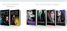 It goes Nightshade-Wolfsbane-Bloodrose-Snakeroot-Rift-Rise   So excited to read these