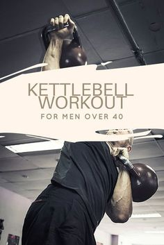 A great workout for kettlebell enthusiasts, men and women, suited for those who are over 40! #kettlebell #workout #over40