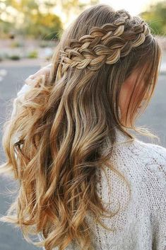 Double Dutch Braids To Impress ❤️ A headband braid, also known as a crown or a halo braid, is a cute half updo or updo hairstyle with a braid around a head. And as for the type of a braid involved, any braid would do here. Make a choice based on your taste. ❤️ See more: http://lovehairstyles.com/cute-headband-braid-hairstyles/ #lovehairstyles #hair #hairstyles #haircuts #headbandbraid #braids