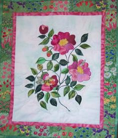 Rosie's Nap ~ Directions for wall quilt or Fairy blocks Applique Quilt Patterns, Wild Flowers, Fairy, Sewing, Rose, Quilting, Mini, Wall, Dressmaking
