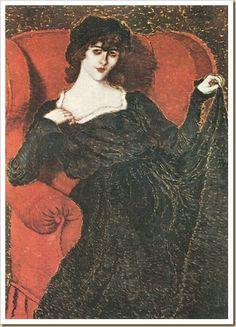 József Rippl-Rónai (1861-1927) –Elza Bányai in a Black Dress (1919) Magyar Nemzeti Galéria, Budapest