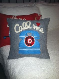 Pillows/ Felt Pillows/Retro Vintage Old Style by VirgiesDaughter