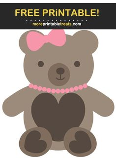 Girl Teddy Bear Cut Out