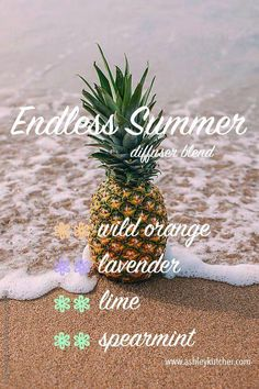 Endless Summer essential oil diffuser blend Perfect for a hot July afternoon Young Living Essential Oils wild orange lavender lime spearmint holistic natural remedies aro. Essential Oil Diffuser Blends, Doterra Essential Oils, Spearmint Essential Oil, Doterra Blends, Doterra Diffuser, Yl Oils, Endless Summer, Cedarwood Oil, Aromatherapy Oils