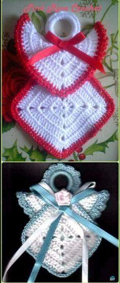 Transcendent Crochet a Solid Granny Square Ideas. Inconceivable Crochet a Solid Granny Square Ideas. Crochet Christmas Trees, Crochet Ornaments, Christmas Crochet Patterns, Holiday Crochet, Diy Christmas Ornaments, Crochet Gifts, Christmas Angels, Crochet Angel Pattern, Crochet Angels