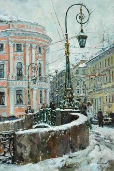 59 ideas landscaping city watercolor for 2019 City Painting, Winter Painting, Winter Art, Landscape Design Plans, City Landscape, Winter Landscape, Landscape Illustration, Watercolor Landscape, Landscape Paintings