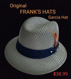 6a57116159b88 Mens Traditional Blue Gray Lowrider Original Frankshats Garcia hat Derby  Fedora