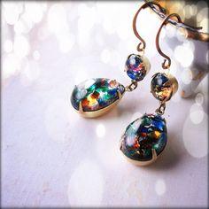 Art glass earrings! LOVE.