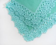 Hey, I found this really awesome Etsy listing at https://www.etsy.com/listing/230969956/knitted-baby-blanket-aqua-blue-and-mint
