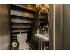 bathroom under stairs half / bathroom under stairs Bathroom Under Stairs, Basement Bathroom, Understairs Bathroom, Tiny Bathrooms, Small Bathroom, Tiny Powder Rooms, Basement Guest Rooms, Bedroom Nook, Downstairs Toilet