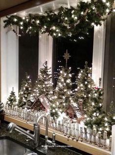 17 LED Battery Operated Candle Bridge /& Timer Winter Warm Set Xmas Indoor Decor
