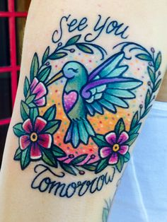 Hummingbird tattoo by Kelly McGrath