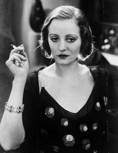 """Talullah Bankhead - smoking drinking and contraband in the 20s - how liberated was she? my fav quote (after seeing an old lover after several years) """"i thought i told you to wait in the car? """"i am as pure as the driven slush"""""""