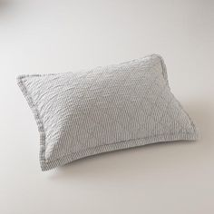 Diamond Ticking Quilted Pillow Sham