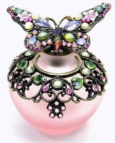 Crystal Enamel Perfume Bottle