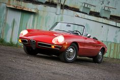 Alfa Romeo Spider - I drove one of these when I was a nanny. Pretty sure I could find room in my own driveway for an Alfa now...