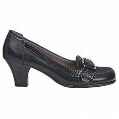 Aerosoles Women's Arivederci Pump Shoes (Black Leather)