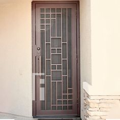 Copper Triple Plate Iron Security Door by First Impression Ironworks provides security and beauty to your home. #irondoors #irondoor #homestyle #frontdoors #TuscanStyle #FrontDoorEnvy #CurbAppeal #SecurityDoor #SecurityDoors #MadeInUSA