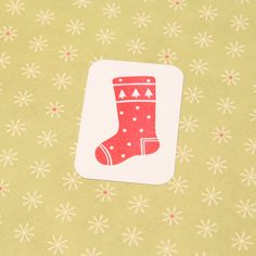 Christmas Stocking Stamp Santa Stocking Hand by skullandcrossbuns