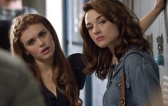 Lydia and Allison are quick to notice the alpha twins.