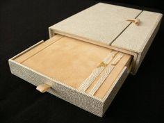 Handbound book and case by Celia Casal