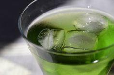 The Fresh Highlander - Creme de menthe, scotch and sparkling water.