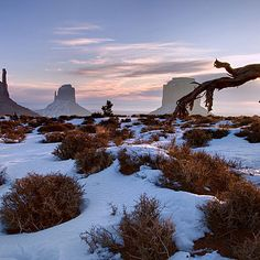 Winter travel in the West: Monument Valley, AZ - Gorgeous Winter Travel Scenes - Sunset Magazine
