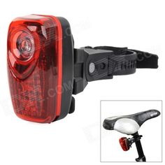 M-6001 Bicycle Safety 3-LED 3-Mode Red Light Rear Light - Red   Black Price: $10.04