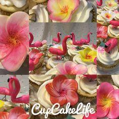 Flamingo Bridal Shower CupCakes