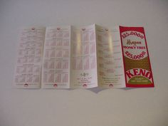Vintage 1979 Keno Game Rules Foldout Brochure by OldTahoeTreasures, $15.99