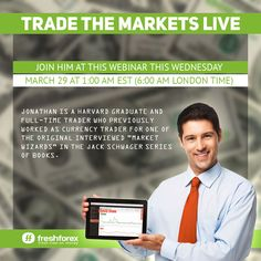 We are glad to invite you to the live, free webinar conducted on Wednesday March 29 at 1:00 am EST (6 am London time). This webinar will be broadcasted live on Youtube! Join: https://freshforex.com/company/news/news_7338.html #webinar, #forexanalysis, #currencypairs, #forexforecast