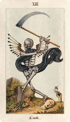 Uusi has conquered the world of divination with their Pagan Otherworlds Tarot. Is it is hype or is this tarot deck truly as gorgeous as they say? Memento Mori, Tarot Death, La Danse Macabre, Arte Black, Creation Art, Arte Obscura, Occult Art, Art And Illustration, Dark Art