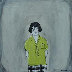 i realllllllllllly want this tiny little painting by Elizabeth Bauman