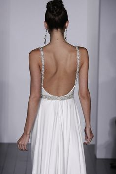 Lovely low back on this wedding dress