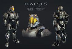 Halo 5 Multiplayer Armor Maverick, Airborn Studios on ArtStation at https://www.artstation.com/artwork/1b85G