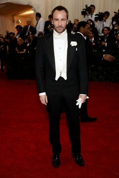"Designer Tom Ford attends the ""Charles James: Beyond Fashion"" Costume Institute Gala at the Metropolitan Museum of Art on May 5, 2014 in New..."