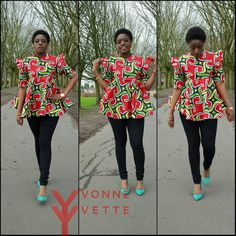 African Print Long Top African clothing African by MaDeInAfrikaGh African Dresses For Women, African Print Fashion, African Attire, African Wear, African Fashion Dresses, African Women, African Prints, African Tops, African Theme