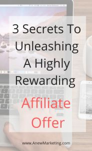 3 Secrets to Unleashing A Highly Rewarding Affiliate Offer marketingdigital Earn Money From Home, Make Money Online, How To Make Money, Affiliate Marketing, Online Marketing, The Secret, Blogging, Success, Website