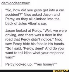 haha typical Percy