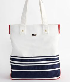 navy blue stripes AND a whale? this is mine. Mariner Tote – Vineyard Vines. $125