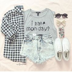 Teenage Fashion Blog: I Hate Mondays Look So Cool Teenage Outfit