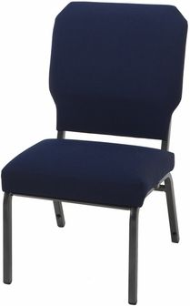 1030 Series Stacking Steel Frame Armless Pew Chair With 3u0027u0027 Upholstered Seat