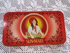Sunmaid Raisin Tin Nostalgic Memories by TreasureTheMemories. , via Etsy.