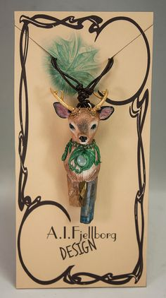 Sculpted Deer Necklace by AIFDesign on Etsy