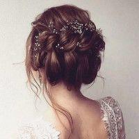 Acconciatura da sposa raccolta per le nozze