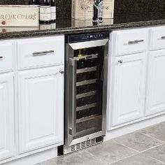 Built In Wine Cabinet To Replace Trash Compactor House Refrigerator
