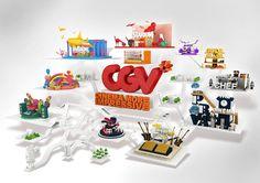 "VDAS 3rd Project  ""CGV Multiplex Cinema"" Brand 3D commercial motiongraphic"