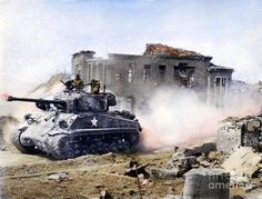 Korean War: M4A3 Sherman Tank, 1951 Photograph