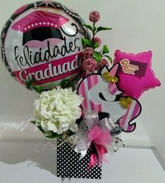 Balloon Flowers, Balloon Bouquet, Balloon Gift, Birthday Candy, Chocolate Bouquet, Candy Bouquet, Boombox, Graduation Gifts, Gift Baskets